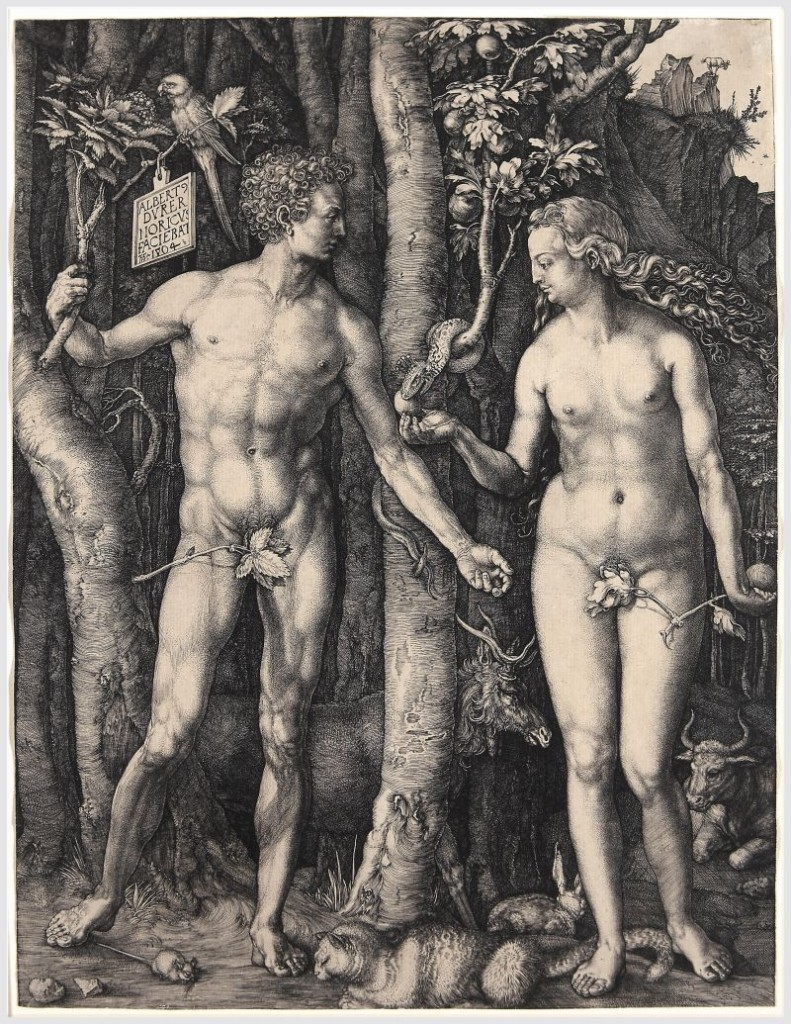Adan y Eva.  Albert Durero