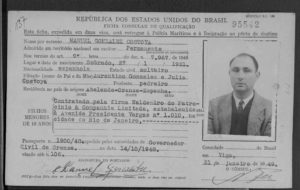 BRASIL. TARJETAS DE INMIGRACION. FAMILY SEARCH